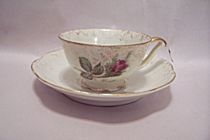 Occupied Japan Rose Bud Demitasse Cup & Saucer