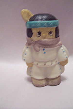 Native American Girl Porcelain Pepper Shaker