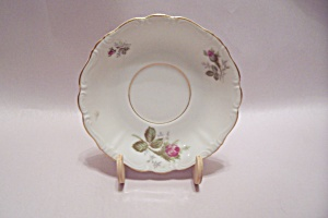 Occupied Japan Rose Decorated Porcelain Saucer
