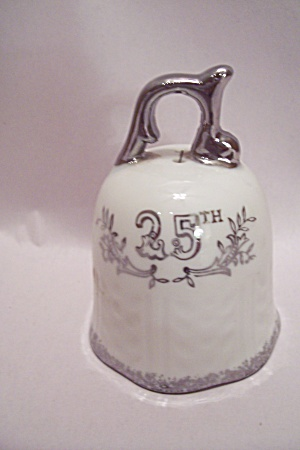 Lefton Porcelain 25th Wedding Anniversary Bell