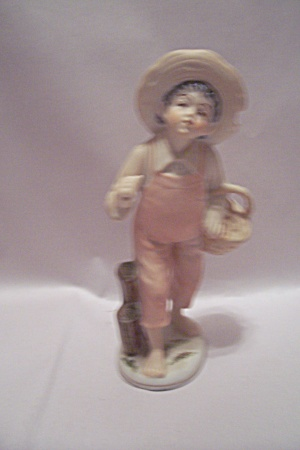Porcelain Handpainted Young Boy Figurine