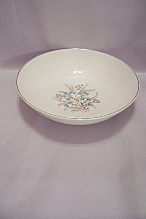 Fine China Floral Pattern Serving Bowl