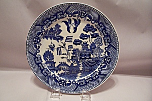Occupied Japan Flow Blue Collector Plate
