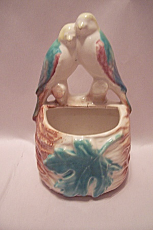 Mccoy Pottery Love Birds Wall Pocket