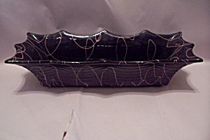 Hall Pottery Black & Pink Rectangular Planter