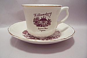 Williamsburg, Va Souvenir Demitasse Cup & Saucer Set