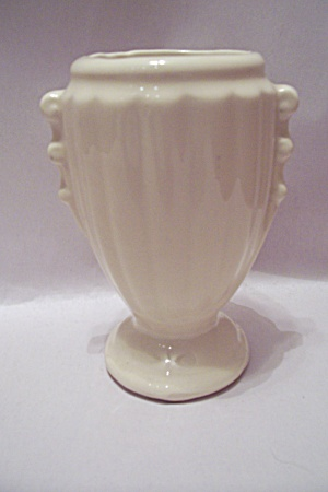 Mccoy White Urn Shaped Pottery Vase