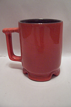 Frankoma Pottery Red Footed Mug