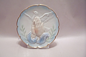 Porcelain Praying Hands & Dove Plaque