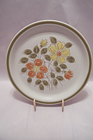 Japan Stoneware Wild Flowers Pattern Dinner Plate