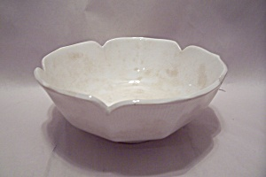 Westwood Ironstone White Leaf Motif Serving Bowl