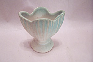 Roseville Light Green & White Pottery Tulip Vase