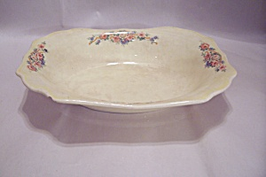 Cannonsburg Spartan Sunset Pattern China Oval Bowl