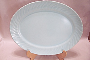 Franciscan Robin Egg Blue China Oval Platter