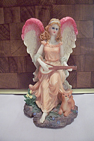 Resin Angel & Deer Figurine