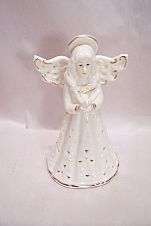 White Porcelain Angel Bell