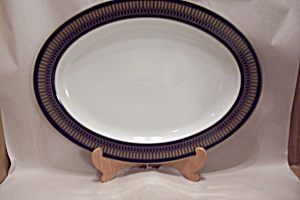 Royale Collections China Cobalt Blue Anne Platter