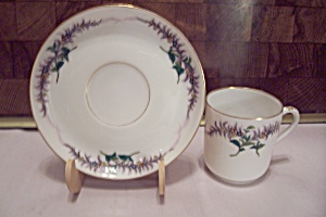Tiffany & Co. Fine China Demitasse Cup & Saucer