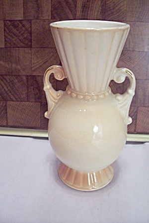 Royal Copley Creme Colored Porcelain Urn Type Vase