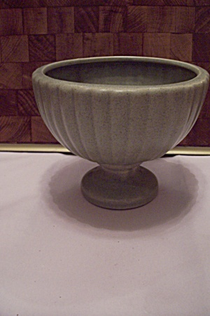 Mccoy Avacado Green Pottery Pedestal Round Planter