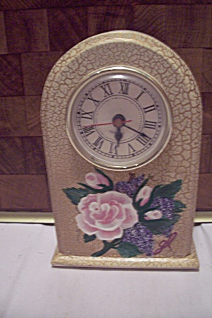 Porcelain Flower Decorated Quartz Clock