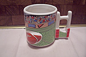 Porcelain Football Themed Mug