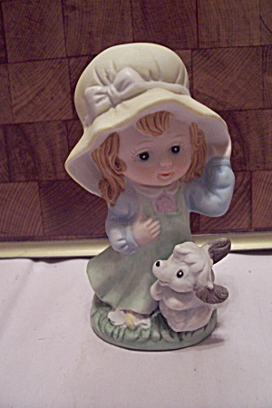 Crown Royal Porcelain Little Girl & Dog Figurine