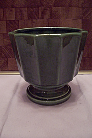 Mccoy Pottery 12-sided Green Footed Pot/planter