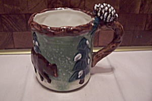 Porcelain Bear In Woods Mug