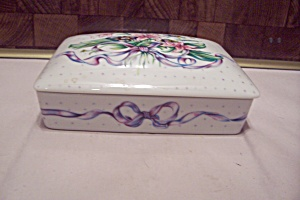 Porcelain Playing Cards Lidded Box