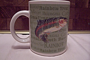 Porcelain Field & Stream Fishing Mug