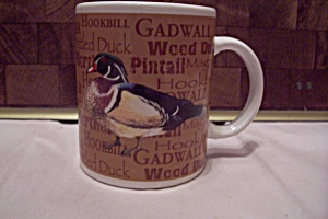 Porcelain Field & Stream Wood Duck Mug