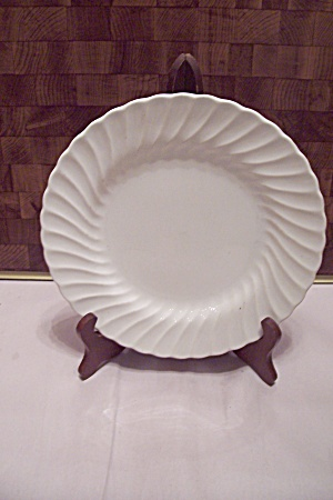Sheffield White Bone China Swirl Pattern Dinner Plate