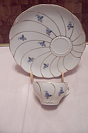 Yamaka China Blue Flower Decorated Snack Set