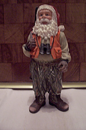 Porcelain Santa Claus Has A Hunter Figurine