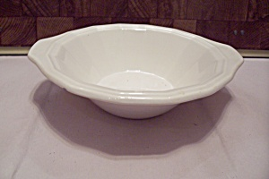 Homer Laughlin Colonial White Pattern China Cereal Bowl