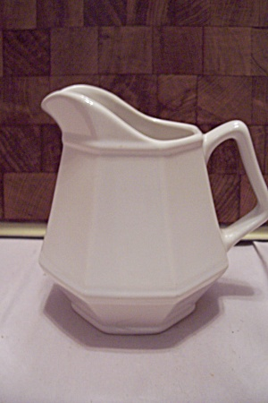 Homer Laughlin Colonial White Pattern China Creamer