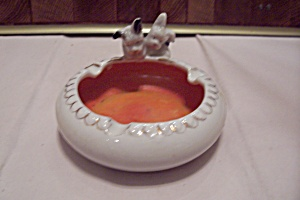 Occupied Japan Porcelain Scotty Dog Ash Tray