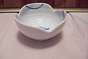 Set Of Three Small Porcelain Soy/condiment Bowls