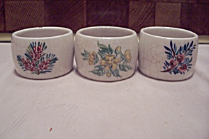 Set Of Three English Porcelain Napkin Rings