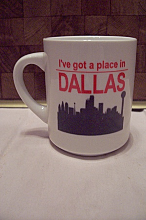 White Porcelain Souvenir Dallas Mug