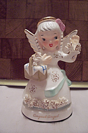 Porcelain August Angel Figurine