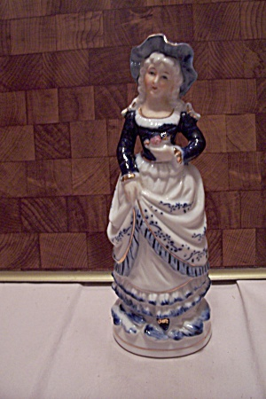Colonial Dressed Porcelain Lady Figurine