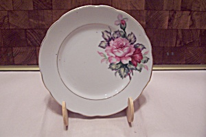 Occupied Japan China Rose Decorated Plate