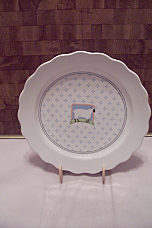 Vander Country China Sheep Decorated Dinner Plate