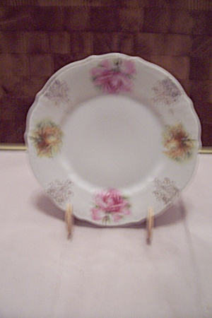 C. T. Bavarian China Pink Rose Decorated Dish