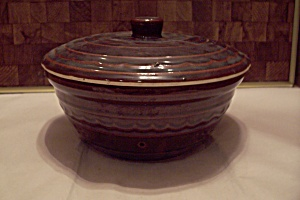 Marcrest Brown Oven Proof Stoneware Bean Pot With Lid