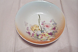 Rm Bavaria China Hand Painted Roses Dessert/berry Bowl