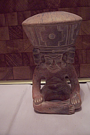 Mexican Native American Human Figurine Pot