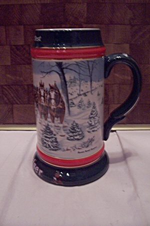 Porcelain Budweiser The Season's Best Beer Stein